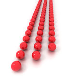 Three vertical lines of billiard balls Royalty Free Stock Photography