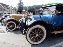 Three very old cars Royalty Free Stock Photo