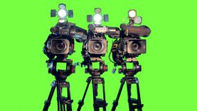 Three video cameras. stock footage