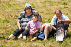 Three viewers Festival Rozhen in Bulgaria Stock Images