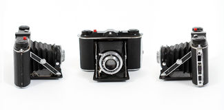 Three views of Vintage film camera Stock Photography