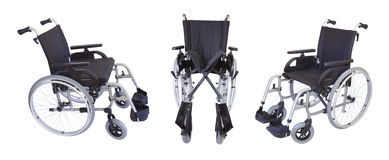 Three views of the wheelchair Royalty Free Stock Image