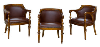 Three vintage chairs Stock Image