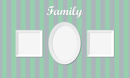 Three vintage family photo frames Royalty Free Stock Photos