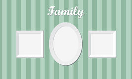 Three vintage family photo frames Stock Photo