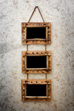 Three vintage frames Royalty Free Stock Images
