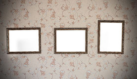 Three vintage frames Royalty Free Stock Photo