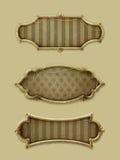Three vintage frames vector illustration
