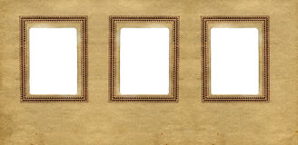 Three Vintage Frames Royalty Free Stock Image