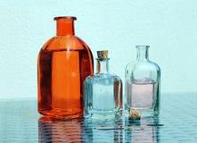 Three Vintage Glass Jars Royalty Free Stock Image