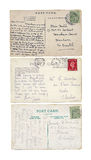 Three Vintage Postcards Royalty Free Stock Images