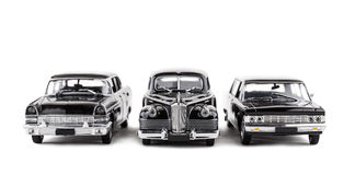 Three vintage toy cars Royalty Free Stock Image