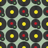 Three vinyl discs pattern Stock Photography