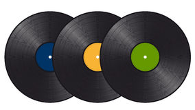 Three vinyl records Royalty Free Stock Photo