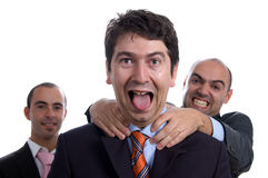 Three violent business men Stock Image