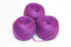 Three violet skein Stock Photography