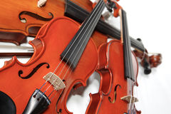 Three violins stock image