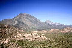 Three Virgins volcanoes. Scenic view of the Three Virgins volcanoes in landscape of Baja California Sur, Mexico Stock Photography