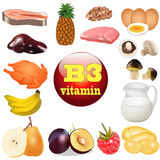 Of three vitamin B. The origin of the plant foods in Royalty Free Stock Image