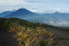 Three Volcanos. From the forth - Guatemala Stock Images