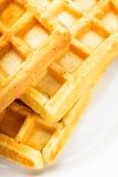 Three waffles isolated Royalty Free Stock Photos