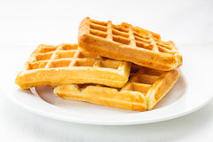 Three waffles isolated Stock Photo