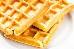 Three waffles isolated Royalty Free Stock Image
