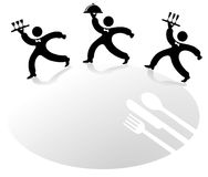 The three waiter. Restaurant sign Royalty Free Stock Photography