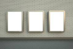 Three wall banners Stock Images