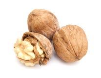 Three walnuts Stock Images