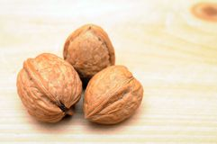 Three walnuts Stock Image