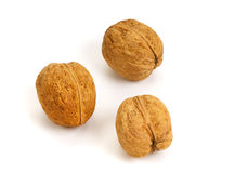 Three walnuts Royalty Free Stock Photo