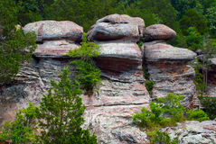 Three warriors guarding the entrance to the Garden of the Gods Wilderness Stock Photos