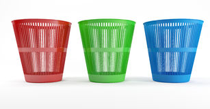 Three waste bins Stock Image