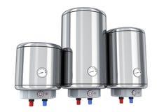 Three water boiler on white background Stock Photos