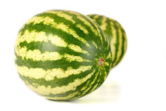 Three water melons on white background Royalty Free Stock Photo