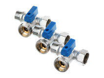 Three water valve Royalty Free Stock Images