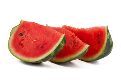 Three watermelon slices Royalty Free Stock Photography
