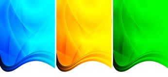Three wavy backgrounds Stock Image