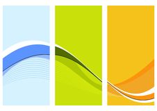 Three wavy columns. With blue, green and orange shades royalty free illustration