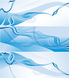 Three wavy vector backgrounds Royalty Free Stock Image