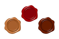 Three wax seals. Royalty Free Stock Photos