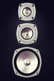 Three Way Big Audio Stereo Loud Speaker Stock Image