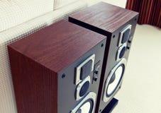 Three Way Big Audio Stereo Loud Speaker Closeup, loudspeaker pai Stock Photos