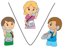 Three Way Conversation Stock Images
