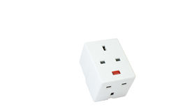 Three way electric socket Stock Photos