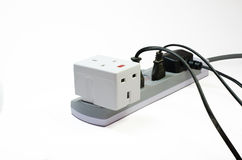Three way electric socket Stock Photography
