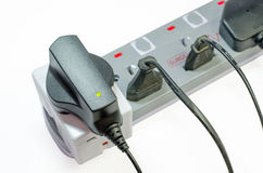 Three way electric socket Royalty Free Stock Photos