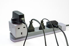 Three way electric socket Stock Images