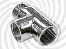 Three-way pipe joint Royalty Free Stock Photo